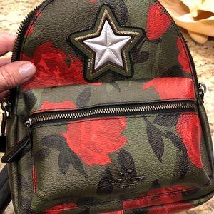 Coach NWOT Camo Rose mini backpack!